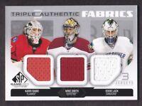 2014-15 SP Game Used Authentic Fabrics Triple Karri Ramo/Mike Smith/Eddie Lack