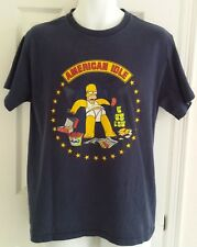 The Simpsons Homer Simpson S Small shirt navy blue graphic tshirt American Idle