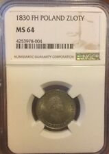 ZLOTY 1830 FH NGC MS64 POLAND RUSSIA