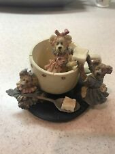 Boyds Bear The Bearstone collection Tea For Three