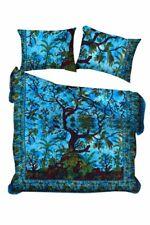 Cotton Bedding Queen Size Duvet Cover Cotton Art Tree Of Life Blue Color Hippie