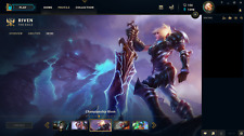 OCE League Of Legends Account Original Championship Riven PLAT V RARE 80 SKINS