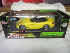 Fast & Furious 2003 Dodge Viper SRT-10 1:18 Scale Die Cast Car NEW