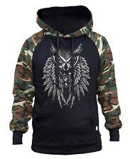 Mens Owl Painting Black Mask Hoodie Sweater Black
