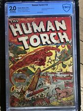 Human Torch 10 CBCS 2.0 OW 1942 GD Schomburg Sub-Mariner Timely cgc