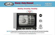 Cadco Xaf 133 Half Size Convection Oven With Manual Controls And Humidity