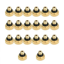 Brass Misting Nozzles Water Mister Sprinkle For Cooling System 20pcs/set EA7X