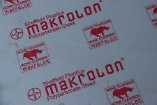 """Makrolon Extruded Polycarbonate Clear Sheet 1/8"""" X 6"""" X 6"""""""