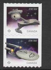 Canada Sc# 2914a VF Mint NH Coil Pair Star Trek Ships 2016
