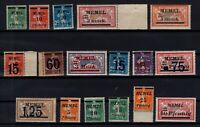 PP137605/ FRENCH MEMEL – YEARS 1920 - 1922 MINT MNH SEMI MODERN LOT – CV 100 $