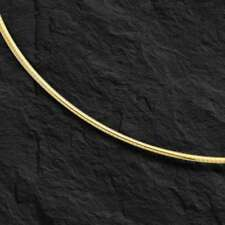 "14k Yellow Gold Fashion Classic Domed Omega 18"" 2mm 7.5 grams chain/necklace"