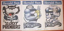 2007 2009 2011  Original Herald Geelong Weg Knight Poster Premiers Grand Final