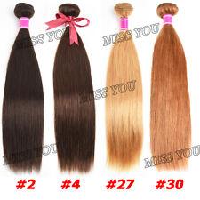Brazilian Bundles Straight Weft #2& #4 Human Remy Virgin Hair Extension
