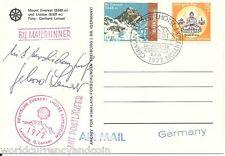 NEPAL 1972 GERMAN *Mail Runner* MT LHOTSE EVEREST EXPEDITION LENSER SIGN Buddha