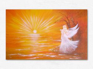 """Engel Bild Kunstfoto """"Vom Licht berührt"""" Engelbilder Foto Sonnenuntergang Sonne"""