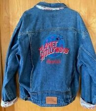 1990's Planet Hollywood Honolulu Hawaii Denim Jean Jacket XXL Super Clean