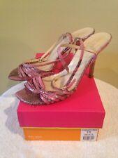 Kate Spade Pink Satin Glitter High Heels Evening Bridal Pump Size 8.5B