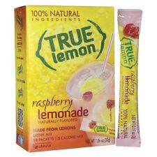 8 Boxes True Lemon 100% Natural Raspberry Lemonade Drink Mix 40 Packets