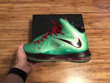"Nike Lebron X 10 ""Cutting Jade"" Christmas Size 11 VNDS"