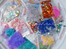 35pcs Glitter Shapes Nail Art Kits Set Lot Acrylic Gel Starter Deco Pack Full