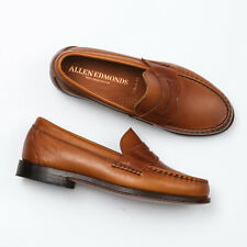 Allen Edmonds Cavanaugh Walnut Burnished Leather Penny Loafers - Men's 8.5 3E