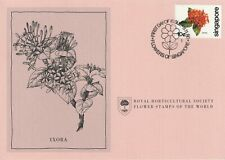 Flower Stamps of The World 1980 FDC card Singapore