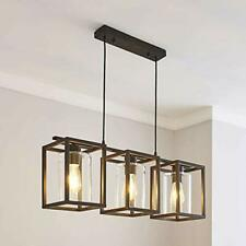 Saint MOSSI 3 Lights Ceiling Fitting Contemporary Black Ceiling Chandelier Glass