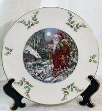 """Vintage Royal Doulton England Christmas Day 1980 Collector Plate Nib, 8 1/2"""""""