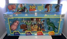 Disney 1995 Toy Story Action Figures Gift Set Hamm/Buzz/Woody/Rex Thinkway NOS