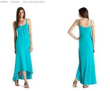 NEW $128 MARCIANO GUESS TURQUOISE HIGH LOW MAXI DRESS L
