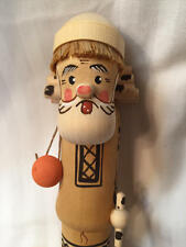 Vintage USSR Wood Carving HIKER/WALKER Very Detailed Beautiful with Box Russia