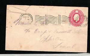 Transvaal (South Africa) EVII 1d Postal stationary envelope with backstamp