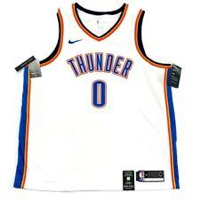 Nike Men's Russell Westbrook Thunder White Swingman Jersey 864437-100 SZ 2XL NEW