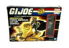 1986 GI Joe ARAH Cobra Serpentor Boxed Complete Instructions Air Chariot Figure