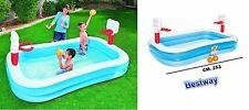 piscina gonfiabile per bambini con 2 canestri basket e 2 palloni inclusi bestway