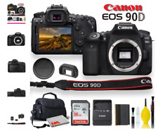 Canon EOS 90D DSLR Camera With Padded Case, Memory Card, and More - Starter Bund