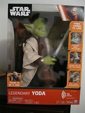 "Star Wars 16"" Legendary Yoda Interactive Figure - 115 Phrases, 3 Modes - New"