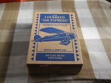 "1929 Lockheed ""Air Express"" Coin Bank MIB Diecast"