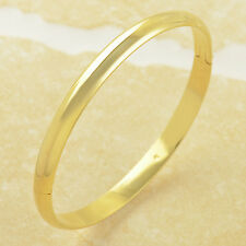 Size:58*6mm Simple 9K Yellow Gold Filled Women's Smooth Bangle Bracelet,Z3131