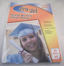 500 SHEETS (25 PACKS) GLOSS RESIN COATED PHOTO PAPER PROJET A4 260gsm