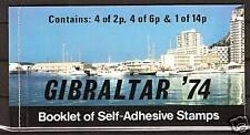 Gibraltar # 309a Booklet Pillar Boxes Upu Centenary