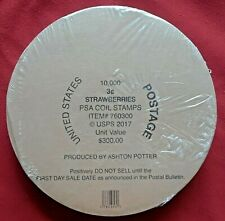 One (1) Sealed Roll / Coil Of 10,000 3¢ STRAWBERRIES US Postage Stamp. Sc # 5201