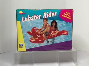 In Box Jeff Koons  6ft inflatable lobster. Sunco inflatable lobster rider.