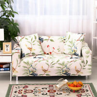 Lounge Floral Sofa Cover Stretch Couch Slipcover Armchair Recliner 1/2/3 Seater