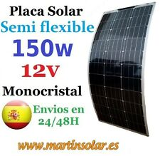 Panel placa solar 150w 12v Monocristalino, modulo Semi flexible.