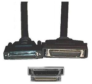 3ft short 68pin .8mm VHD/VHDCI~SCSI-2 HPDB50/HD50/MD50 Male~M Cable/Cord/Wire