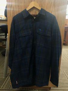Simms Coldweather Shirt - Rich Blue Admiral Plaid LARGE
