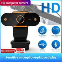 1080P Autofocus HD Webcam Web Camera Video Call Microphone USB PC Desktop Laptop