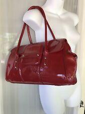 Alfani Classic Red Genuine Patent Leather Satchel Shoulder Bag Beautiful Size