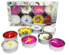 Handmade and Fair Trade assorted flower scented tealights